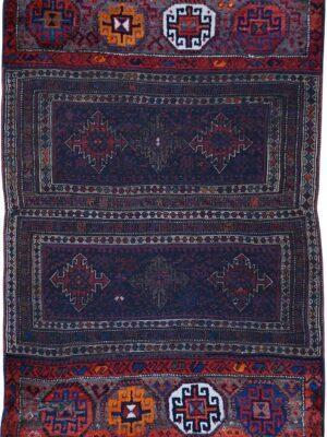 65315-ANTIQUE KURDISH CAUCASIAN LORI RUG