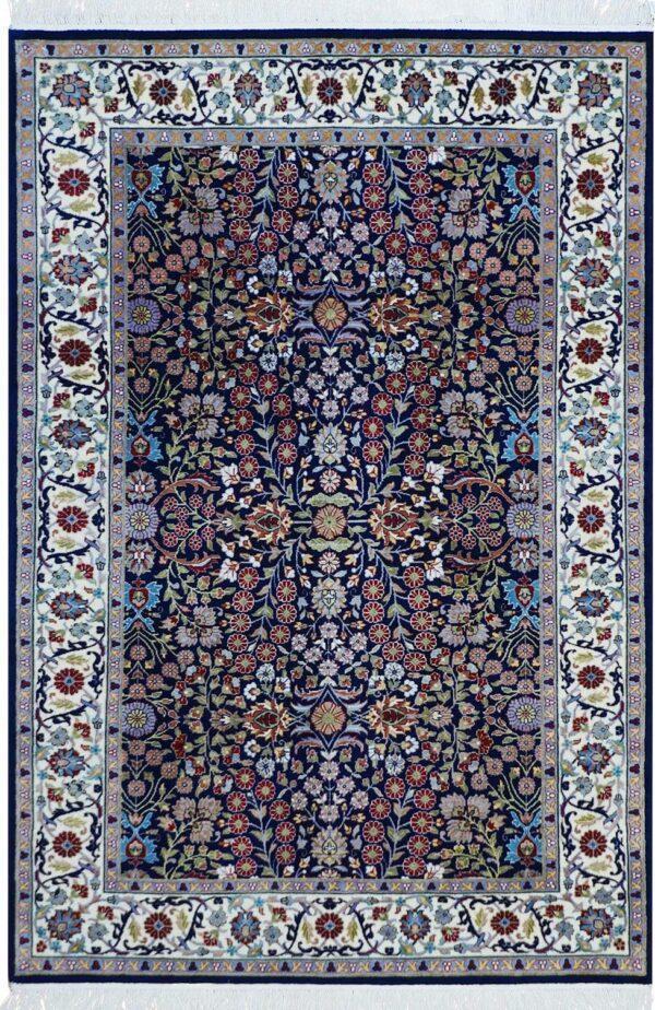 65322-TURKISH HEREKE AREA RUG WITH SILK HIGHLIGHTS