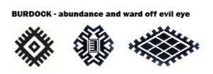 burdock symbol oriental rugs
