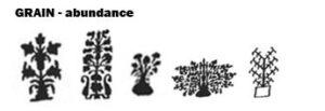 grain symbol oriental rugs