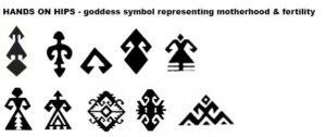 hand on hips symbol oriental rugs