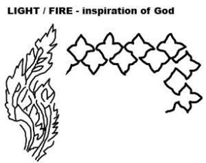light fire symbol oriental rugs