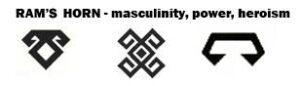 rams horn symbol oriental rugs